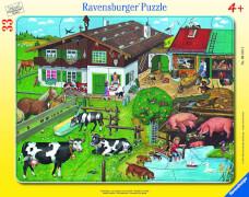 Ravensburger 06618 Rahmenpuzzle Tierfamilien 33 Teile