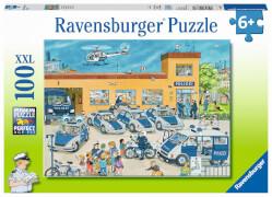 Ravensburger 108671 Puzzle Polizeirevier, 100 Teile