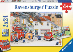 Ravensburger 08851 Puzzle Bei der Feuerwehr 2 x 24 Teile