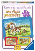 Ravensburger 07062 Puzzle Meine Tierfreunde My First Puzzle 3x6 Teile