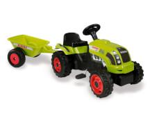 Smoby Kindertraktor CLAAS mit Anhänger