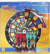 New Sports Safety Dartboard, inklusive 6 Pfeilen
