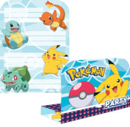 8 Einladungskarten & Umschläge Pokemon